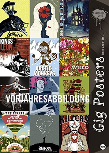 Gig Posters Edition - Kalender 2018 (Art Show Poster)
