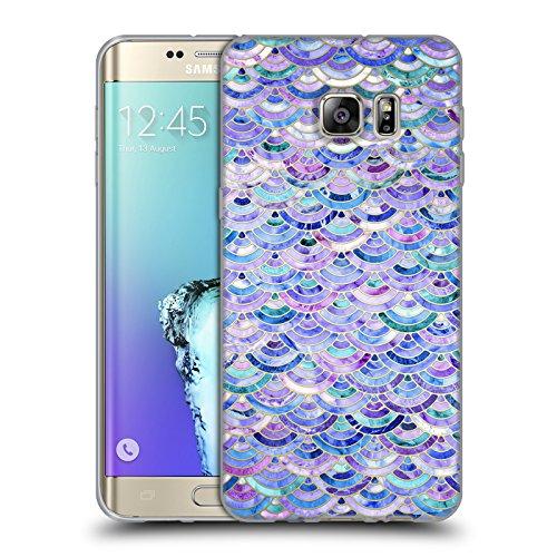 Offizielle Micklyn Le Feuvre Mosaik Und Amethyst Und Lapislazuli Marmor Muster Soft Gel Hülle für Samsung Galaxy S6 edge+ / Plus