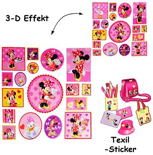 alles-meine.de GmbH 17 tlg. Set _ 3-D Effekt _ Aufkleber / Sticker -  Disney Minnie Mouse  - für..
