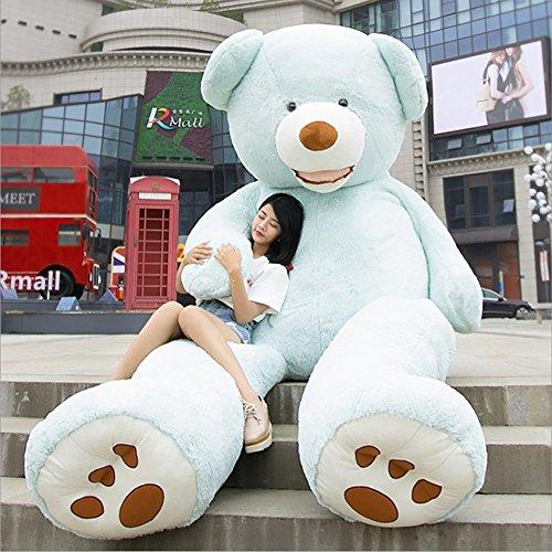 VERCART Groß Teddybär Spielzeug Kuscheltier Gigantischer Puppe Weiches Plüsch als Geschenk Geburtstagsgeschenk zur Dekoration Erwachsene Kinder Blau 200CM