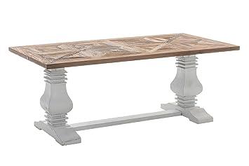 CLP Holz Esszimmer Tisch TABOA, Handgefertigt, Shabby Chic Landhaus Stil,  Größe
