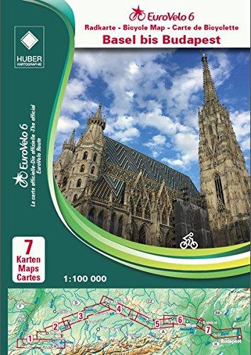 Eurovelo 6 Basel - Budapest pack of maps par Huber Kartographie GmbH