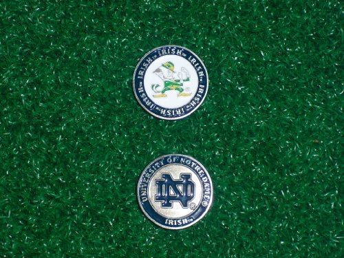 notre-dame-university-golf-double-sided-ball-single-marker-only-by-team-golf
