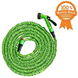 50 Ft Garden Hose Pipe Expandable Hose Pipe | Super Light Weight Expandable Hose Pipe | Natural Latex Triple Layer | 7 Setting Sprayer | Expanding Hose | Magic Hose Expands up to 15 metres / 50 ft (50 Ft hose)