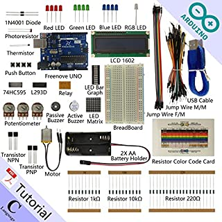 Freenove Super Starter Kit for Arduino   Beginner Learning   UNO R3 MEGA Nano Micro   25 Projects, 139 Pages Detailed Tutorial