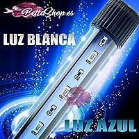 BETTASHOP.ES Tubo DE LUZ LED SMD con LUZ Blanca Y LUZ Azul(LUZ DE Luna)