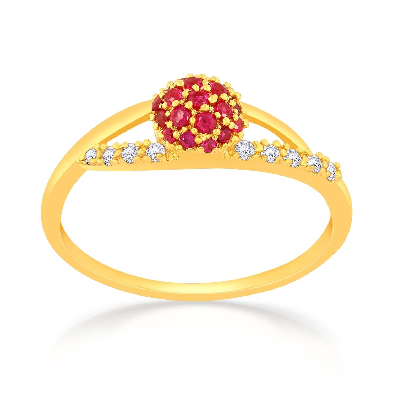 1688ae1fc2974 Malabar Gold & Diamonds 22KT Yellow Gold Ring for Women - Gia Designer