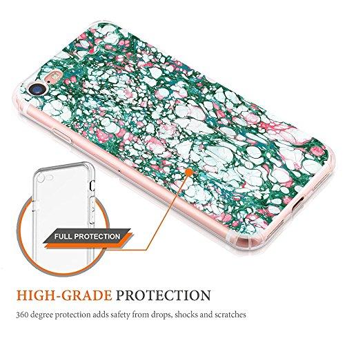 iPhone 7 Custodia Marmo TPU Gel Silicone Protettivo Skin Custodia Protettiva Shell Case Cover Per Apple iPhone 7 (4,7) (4) 6