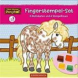 Mein kleiner Ponyhof: Fingerstempel-Set: 6 Motivkarten und 4 Stempelkissen