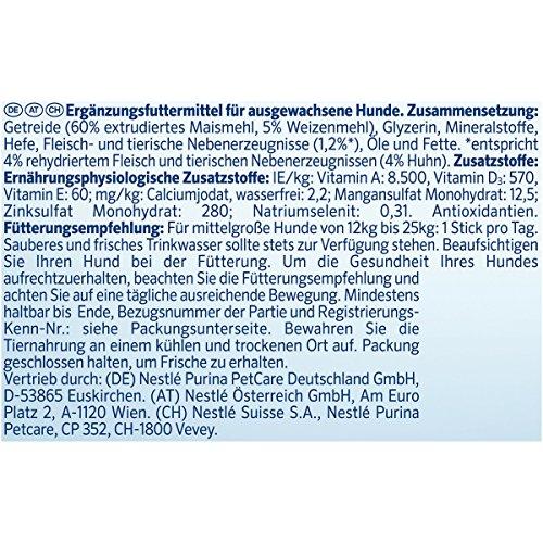 Purina DentaLife Medium Tägliche Zahnpflege-Snacks für mittelgroße Hunde, 5er Pack (5 x 115 g) - 4
