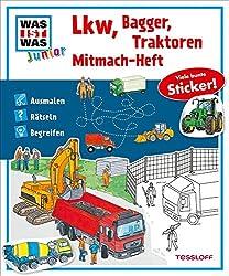 Mitmach-Heft Lkw, Bagger, Traktoren: Ausmalen, Rätseln, Begreifen