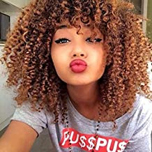 Pelucas largas de pelo sintético rizado para mujeres negras, pelo sintético natural, pelucas baratas
