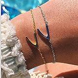 Yesiidor Frauen Mädchen Wishbone Design Armband Set Einfache Stilvolle Elegante Charming Kette Armband Schmuck Zubehör