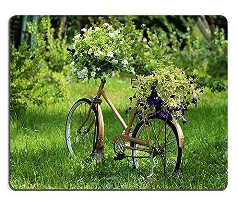 MSD Tapis de souris en caoutchouc naturel Image 20365297Vieux Bleu Valise sur le sol de bois vintage 2200