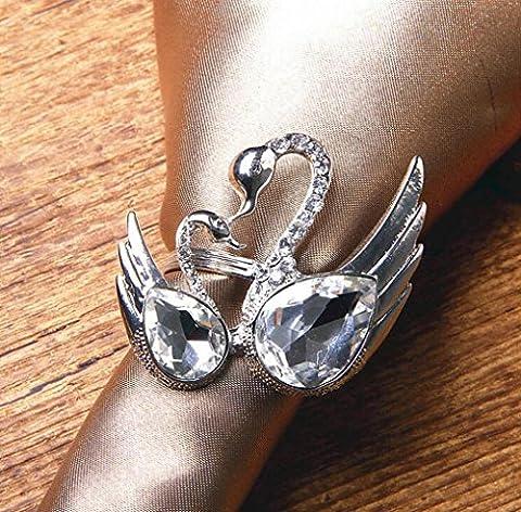 Z@SS-Rond de serviette cristaux de Swan (5p.)