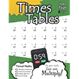 Times Tables: 100 Practice Pages - Timed Tests - Multiplication Math Drills - KS2 Workbook - (Ages 7-11)