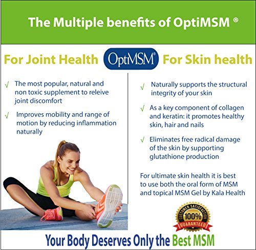 Kala Health - OptiMSM® (Methylsulfonylmethane) MSM Powder Coarse Flakes  (Crystals) 250g, pure MSM Supplement, produced in the United States of