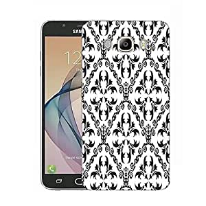 Snoogg Grey Pattern Designer Protective Phone Back Case Cover for Samsung Galaxy On8