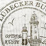 Kissenhülle Kissenbezug Ocean Lübecker Bucht beige weiss 45×45 cm – ohne Füllung - 2