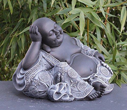 Steinfigur Buddha in Schiefergrau - 5