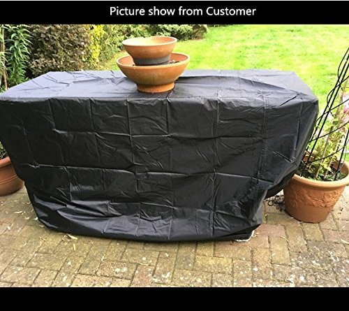 Big Fitted BBQ Cover Outdoor Waterproof Barbecue Grill Cover Garden Patio Grill Protector Design 117cm High 170Width