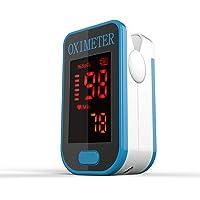 Saturimetro Da Dito- Monitor Di Saturazione Di Ossigeno Nel Sangue PRCMISEMED Con Cordino,Fit For Your Health (Nero…