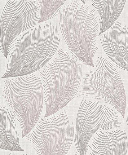 rasch-gatsby-ventilateur-motif-plumes-paillettes-motif-papier-peint-vinyle-texture-pink-grey-319705-