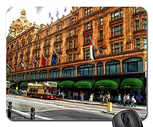 Mouse Pads - Building Harrods Landmark Street London Clouds -