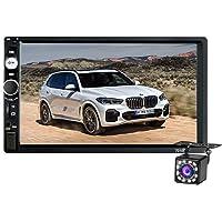 2 Din Autoradio Bluetooth,Écran Tactile HD de 7 Pouces Poste Radio Voiture Lecteur MP5 Soutien SD/USB/AUX Lien Miroir…