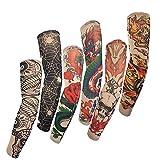 SMO High Quality Lot 6 Pcs Temporary Fake Slip On Tattoo Arm Sleeves Kit L