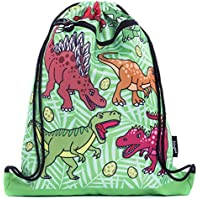 FRINGOO® Kids Drawstring Bag With Front Zipped Pocket PE Kit Bag School Backpack