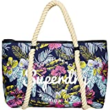 Superdry Damen Bayshore Tote-Bag, Pink Photo Palm OJ7, 32x37x9 cm