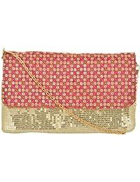 Arisha Kreation Co Clutch (Pink and Beige)