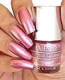 DeBelle Gel Nail Lacquer Chrome Glaze 8 ml -(Metallic Pink Nail Polish)