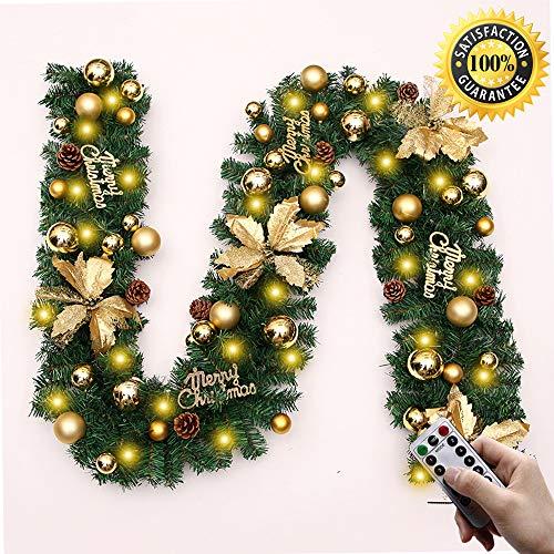 Morbuy Guirnalda de Navidad Decoración, Blanco Cálido 8 Modos LED Interior Exterior...