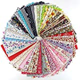 60 Pcs Fabric Cotton 100% Printed Boundle Patchwork Squares of 20*25cm
