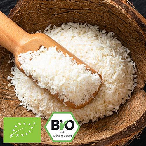 1000g Bio Kokosraspeln ungesüßt & ungeröstet / ideal fürs Müsli | 1 kg | in kompostierbarer Bio-Verpackung – Kokos-Raspeln fein Low-Carb Ernährung & vegan Kokosnuss | STAYUNG