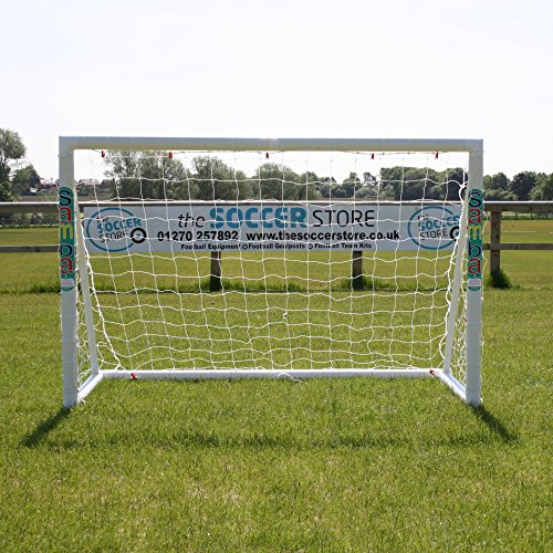 Samba 6 x 4ft Fun Football Goal with Locking System Garden Goal Posts Complete with Football Net Clips and Pegs