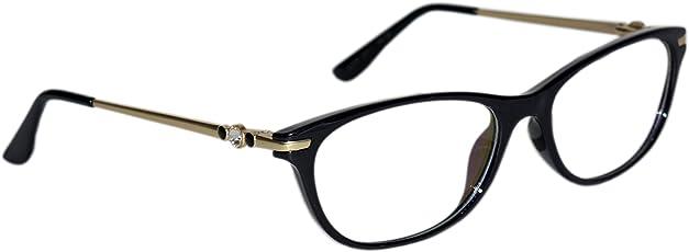 Peter Jones Full-Rim Cateye Optical Frame (LP2706BG, Black and Golden)
