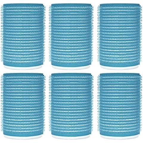 Set Rulos de velcro rollos para el cabello tamaño grande de material de plástico con fuerte agarre 6 Accesorios baño - Bigudíes y accesorios Material: Plástico