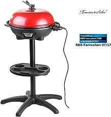 Rosenstein & Söhne Elektro Kugel Grills: 5in1-Elektro-Kugelgrill mit Temperaturregler und Zubehör, 1.500 W (Elektrischer Kugelgrill)