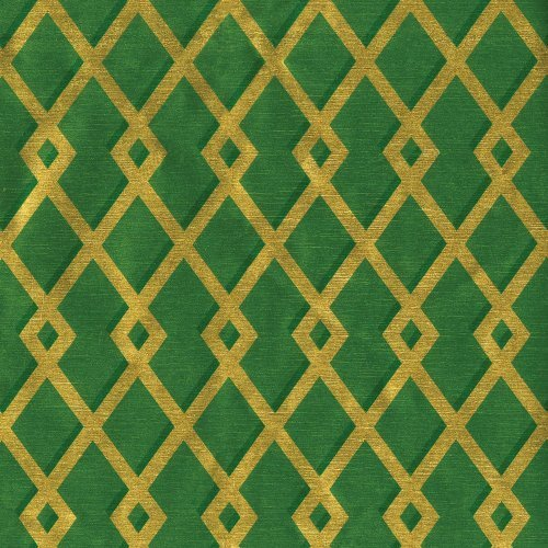 Entertaining with Caspari Continuous Roll of Gift Wrapping Paper, Trellis Green and Gold Foil, 8-Feet, 1-Roll by Caspari