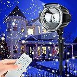 LED Projektionslampe,YINUO LIGHT Weihnachtsprojektor Lichter Projektions Lampe mit Fernbedienung Schneefall-Lichteffekt Stimmungsbeleuchtung Beleuchtung für Weihnachten Party Geburstag Hochzeit