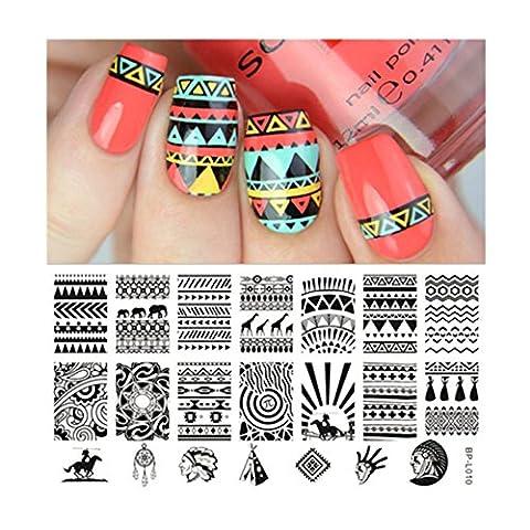 Plaque Nail Art Ongle - Born Pretty Plaque De Stamping Nail Art