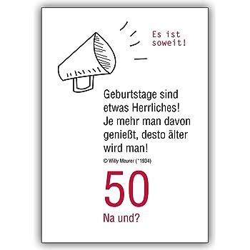 Geburtstagskarte schreiben 50