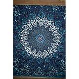 Queen Hippie Star tapices, psicodélico Tapestry, Sol y la luna tapiz, Star Mandala tapices, manta colcha Reina cama dormitorio decotribal textiles asiáticos