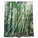 Wald Duschvorhang - Forest Badewannenvorhang Bäume
