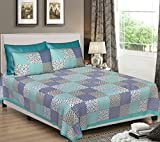 #8: Bombay Spreads Jaipuri Cotton Double Fitted Bedsheets With 2 Pillow Cover (King_Multicolor)