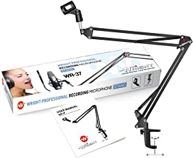 Wright Wr 37 Professional Microphone Stand For Dynamic Condenser Mic Extra Long 60 X 52Cm Endurance Upto 2.5 Kgs