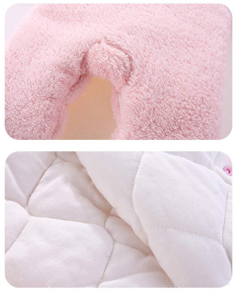 Bebé Mono Invierno Mameluco Vellón Body Recién nacido Peleles Traje de Nieve Pijamas Espesar Traje de Dormir, 0-3 Meses 5